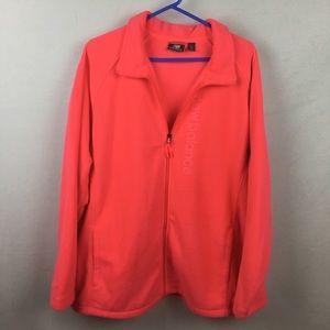 New Balance Fleece Coral Pink Zip Up Jacket 2X New